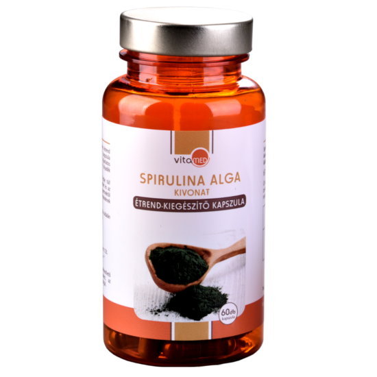 Spirulina alga kivonat étrend-kiegészítő kapszula (60db-os)