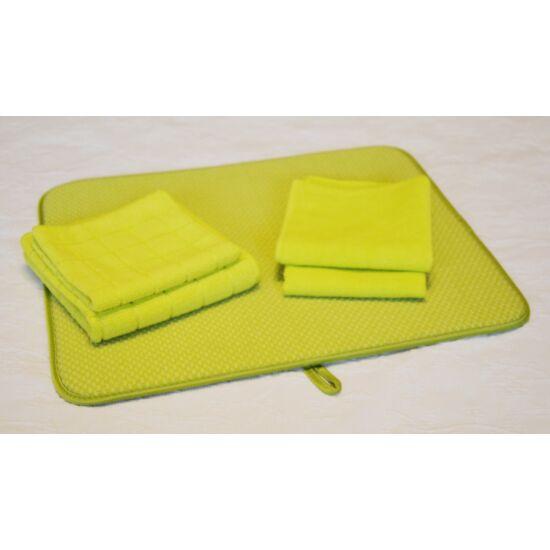Konyhatündér szett kivizöld színben, ajándék kis univerális kendővel