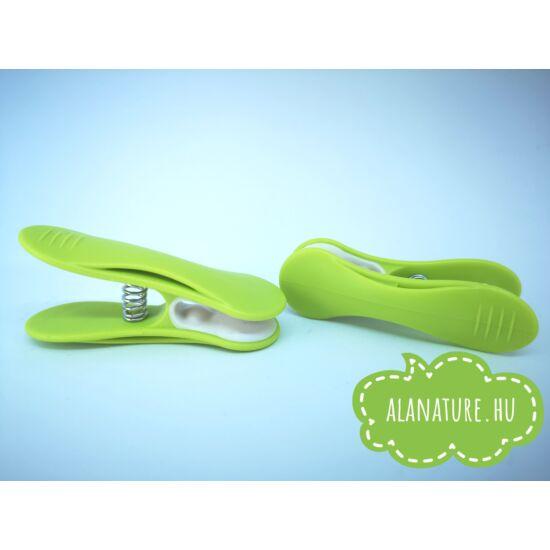 VIXI Normál csipesz zöld színben 10 db-os