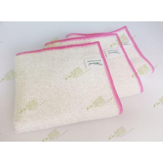 VIXI Bambusz mosogatókendő (pink szegéllyel)