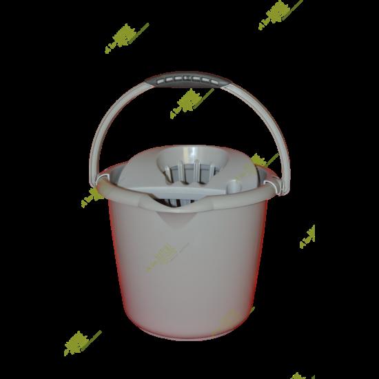 VIXI Csavarókosaras vödör, 12 literes (szürke)