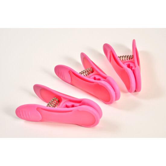 VIXI Maxi pink csipesz 3 db-os
