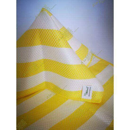 VIXI Bambusz sárga csíkos mosogatókendő