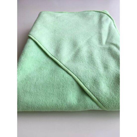 VIXI Gyermek kapucnis fürdőlepedő almazöld színben (90x90)