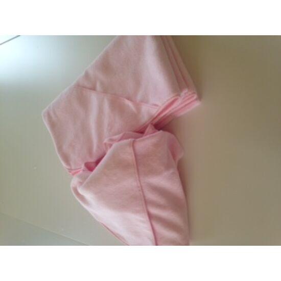 VIXI Gyermek rózsaszín kapucnis fürdőlepedő 90x90