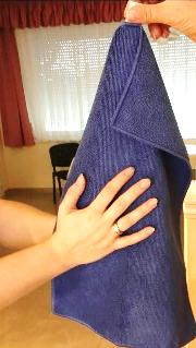 47e0ceba6a VIXI Gyermek kéztörlő (30x45 cm) kék színű - Mikroszálas törölközők,  konyharuhák - A la Nature Webáruház - webáruház, természetesen